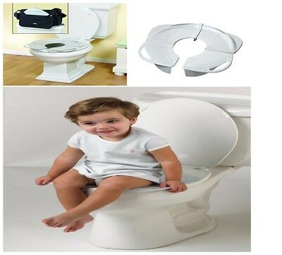 NEW Toddler Kid Portable Folding Travel Potty Training Toilet Seat Handles