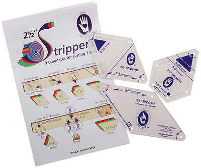 """2 1/2"""" Strippers Templates 3 Templates For 7 Shapes 8059"""