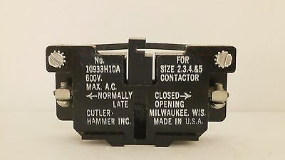 Cutler Hammer Auxiliary Contact (N.c) 10933H10A *new/old Surplus*