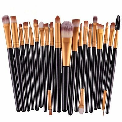 20 pcs/set Makeup Brush Set Powder Foundation Eyebrow Lip Eyeliner Cosmetic
