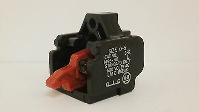 Allen Bradley Auxiliary Contact Size 0-5  1495-H0