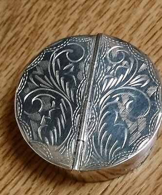 Super Sterling Silver Double Pill Trinket Box With Hallmarks ~ Gm Import Marks !