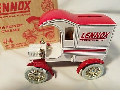 Lennox 1905 Delivery Car Bank #4 Limited collector series 1/25 Scale Die-Cast