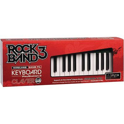 NEW PS3 Rock Band 3 Wireless Keyboard Clavier Mad Catz RockBand SEALED
