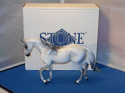 2001 Peter Stone Signed All In Silver Test Thoroughbred Model Horse!