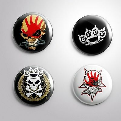 4 FIVE FINGER DEATH PUNCH 5FDP - Pinbacks Badge Button Pin 25mm 1''