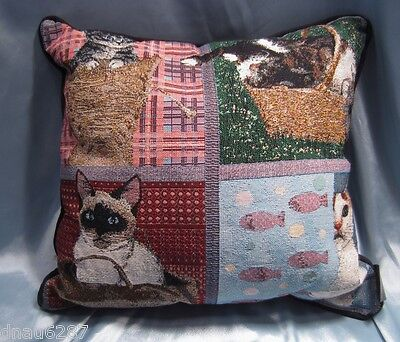 Cats in Things Throw Pillow by Mill Street Design
