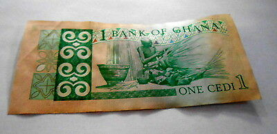 VINTAGE 1-CEDI GHANA BANKNOTE (circulated)