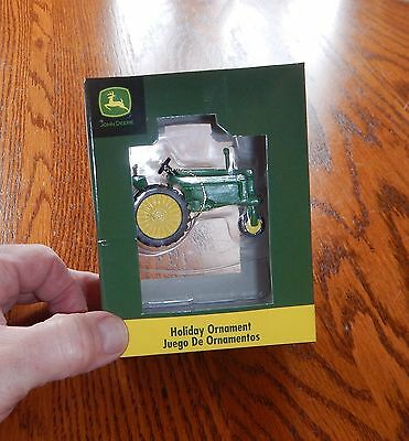 Enesco Vintage John Deere Tractor Advertising Ornament NIB Farm Implement