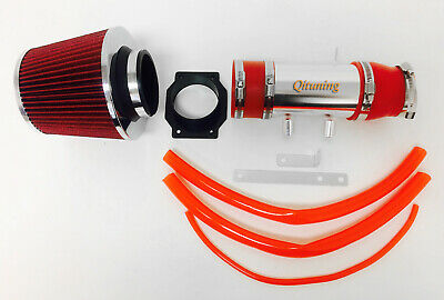 Red Air Intake System Kit Filter For 1999-2004 Nissan Frontier Xterra 3.3L V6