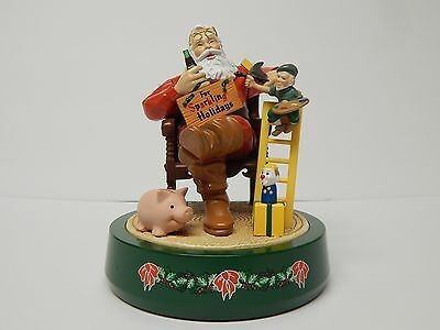 Coca Cola Mechanical Santa Bank 1994 2nd in a Series