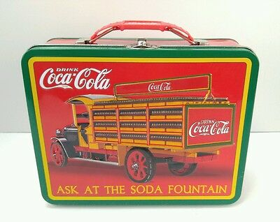 Coca Cola Lunch Box Ask at the Soda Fountain, vintage style delivery truck, COKE