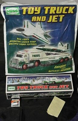 2010 Hess Toy Truck & Jet Plane Mint In Mint Box With Batteries & Bag