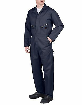 Dickies Dark Navy Long Sleeve Deluxe Blended Coverall Jumpsuits Workwear 48799