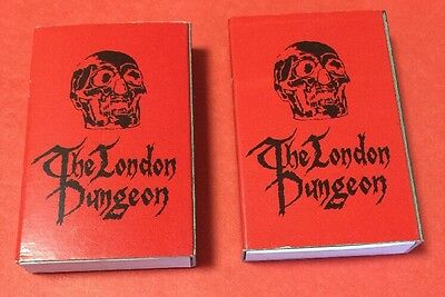 Vintage Matchbook Matchsticks Wood Matches The London Dungeon Lot Of 2 Skull