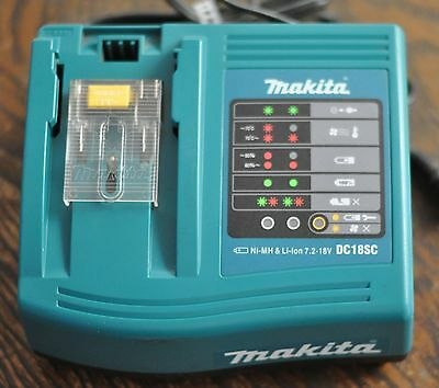 Genuine Makita DC18SC 18-Volt LXT Lithium-Ion Ni-Cad Battery Charger