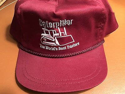 Rare Mens Cat Caterpillar Hat Cap Vintage Track Type Tractor W/O Tags USA Made
