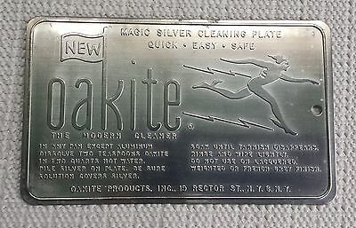 Vintage Advertising Oakite Silver Cleaning Plate New York, Ny Nice