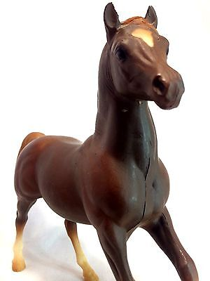 "Breyer Vintage Chestnut Brown Flaxen Mane & Tail Friesian Colt 7"" Horse Figure"