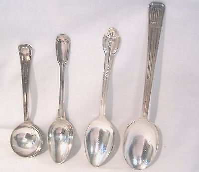 4 Spoons from Hotels William Penn, Morrison, Hotel Du Louvre,  The Conrad Hilton