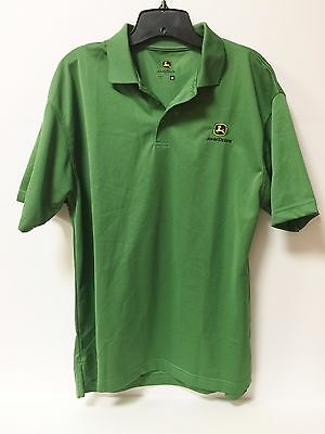 John Deere Men's Medium Green Polo Shirt