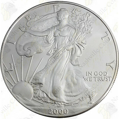 2000 1 oz American Silver Eagle – Brilliant Uncirculated – SKU #1394