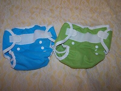 Lot of 2 Sz 1 (0-9 months 6-18 lbs) Thirsties Diaper Covers Unisex colors