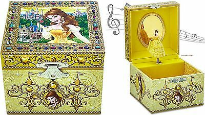 """Authentic Disney Parks """"BELLE"""" Beauty And The Beast Musical Jewelry Box"""