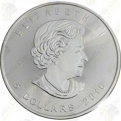 2016 1 oz Canadian Silver Maple Leaf -- Brilliant Uncirculated -- SKU #12028