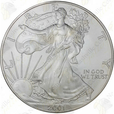 2001 1 oz American Silver Eagle – Brilliant Uncirculated – SKU #1395