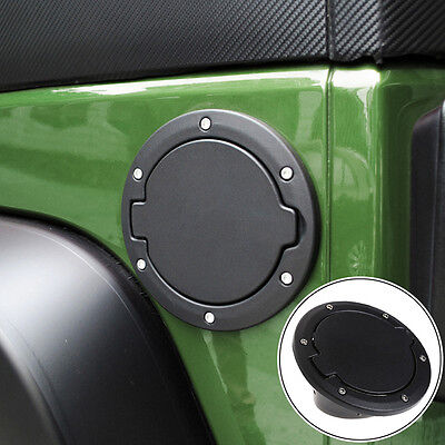 Fuel Filler Cover Gas Tank Cap 2/4 Door For 07-16 Jeep Wrangler JK 1 Pc