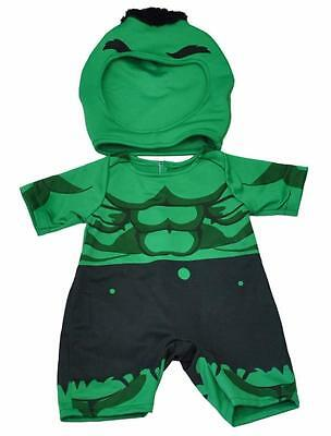 "GREEN HULK GIANT SUPER HERO OUTFIT FOR 16""/40cm TEDDY BEAR & BUILD YOUR OWN BEAR"