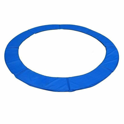 Soozier 14FT Blue Trampoline Pad Spring Safety Cover Replacement Round Frame