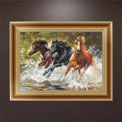 DIY 5D Diamond Painting Horses Embroidery Cross Stitch Craft Home Decor