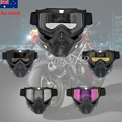 Motorcycle Riding Off-Road Anti-UV Goggles Eyewear Scooter Helmet Face Mask