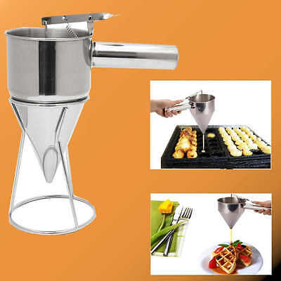 Stainless Steel Utensils Conical Funnel with Shelf Octopus Fish Balls Holder