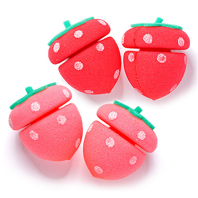 [ETUDE HOUSE] My Beauty Tool Strawberry Sponge Hair Curlers 1pack(4EA)