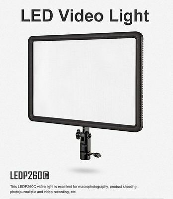 UK Slim Godox LEDP-260C Bi-Color Ultra Camera LED Video Light Panel 3300K~5600K