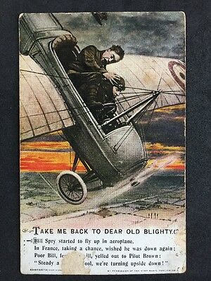 Vintage Postcard: Military Song Card #A113 Take Me Back To Dear Old Blighty (2)