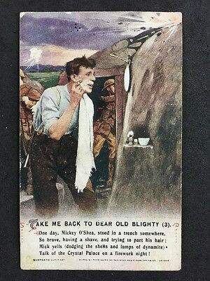Vintage Postcard: Military Song Card #A114 Take Me Back To Dear Old Blighty (3)