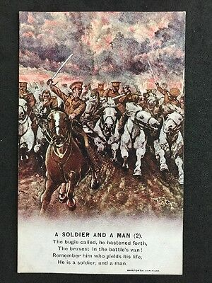 Vintage Postcard: Military Song Card #A117 : A Soldier And A Man (2)