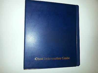 Guest Information Guide Pvc Folder(4D 25)  With 25 Pockets Ref Blue/Gold