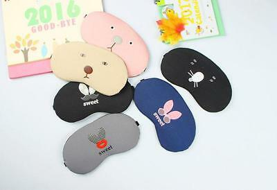 Cute Sleep Eye Mask Nap Eyeshade Travel Relief Fatigue Relax Cover With Ice Bag