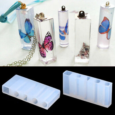 1 Set Liquid Silicone Mold Resin Jewelry Pendant DIY Necklace Pendant Mould Tool