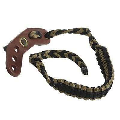 Wrist Sling Nylon Strap Rope Adjustable Braided For Compound Bow Archery Hunting