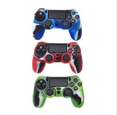 Silicone Rubber Skin Case Protective Cover for Playstation 4 PS4 Controller BUAU