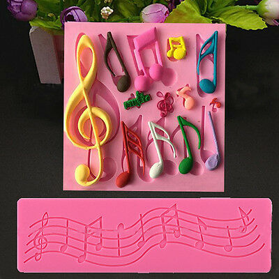 Multi Music Note Lace-Silicone Mold Mould Fondant Mat Cake Decorating Tools