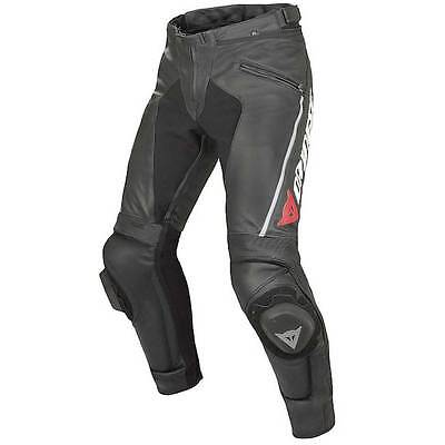 Dainese Delta Pro C2 Black Sports Track Leather Motorcycle Motorbike Trousers