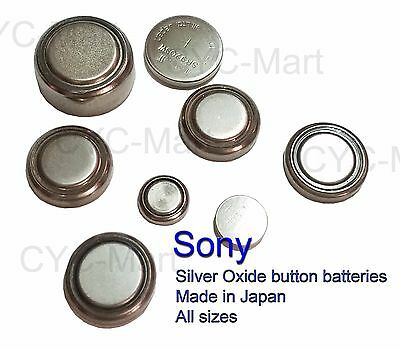 Sony Silver Oxide coin button batteries 371 395 321 317 394 377 etc. JAPAN made