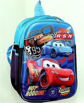 New High Quality 3D Lightning McQueen Car Backpack School Bag Boys Black Blue